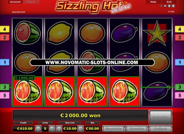 sizzling hot deluxe play online